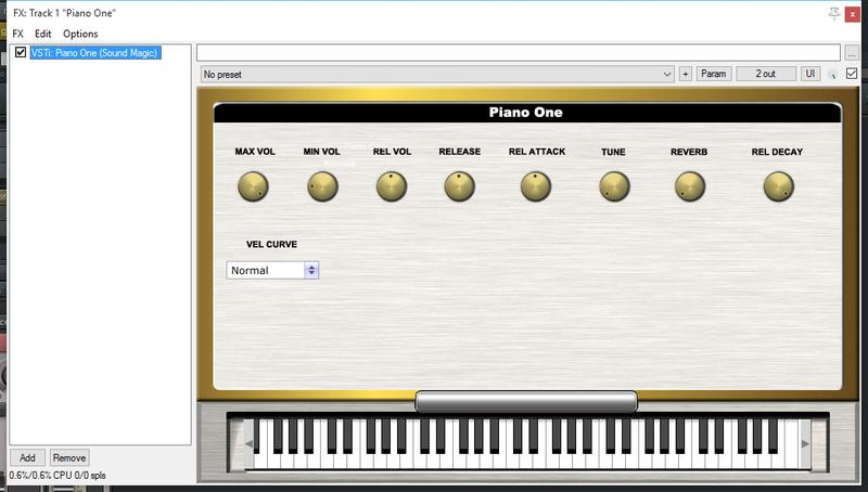 Piano One Trouble - Cockos Incorporated Forums
