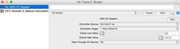 JS : Midi CC Mapper X (Tweak your MIDI controls response curves