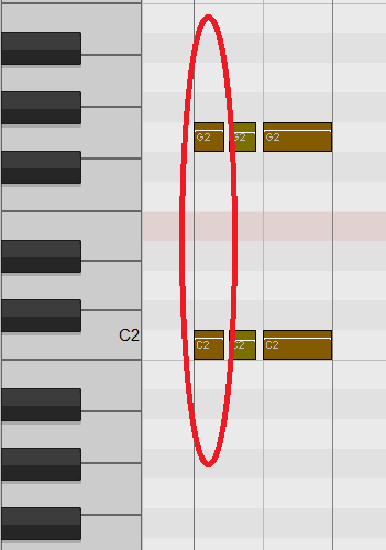 Midi notes at same time  Can I control the send order