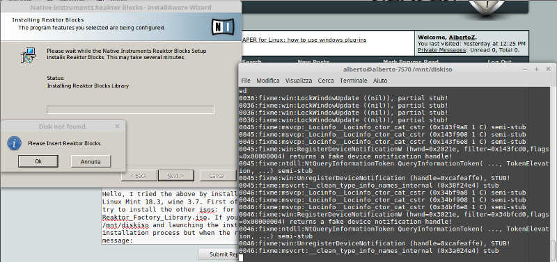 REAPER for Linux: how to use windows plug-ins - Page 11